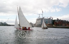 No1 Rita and No11 Deilginis Photographed during a race up the River Liffey, Dublin Port 2008 © David O'Shea Editorial Photographer Dublin www.osheaphotography.com