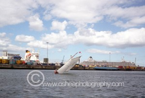 No3 Leila heeling in Dublin Port © David O'Shea Editorial Photographer Dublin www.osheaphotography.com